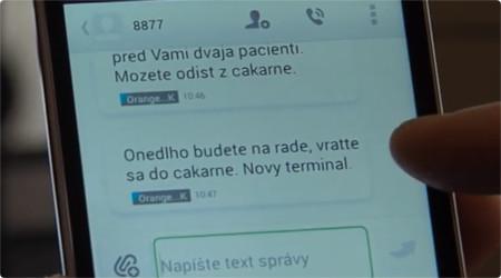 SMS s privolaním pacienta do ordinácie