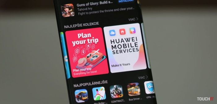 Obchod AppGallery a mobilné služby od Huawei