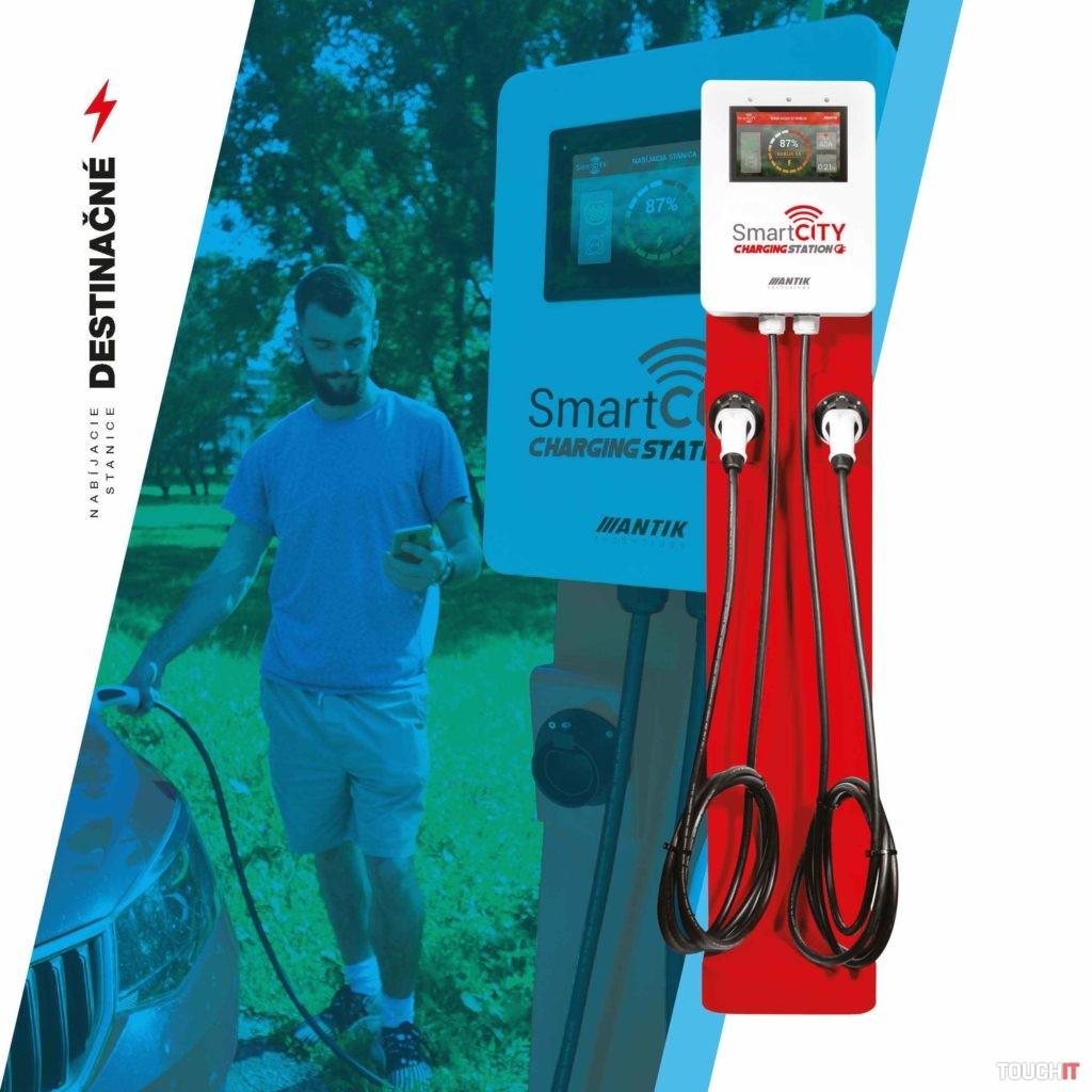Nabíjačka pre elektrické autá na parkovisku alebo v hoteli