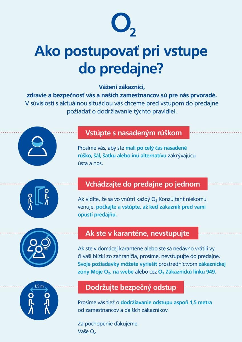 Bezpečnostné nariadenia v predajniach O2