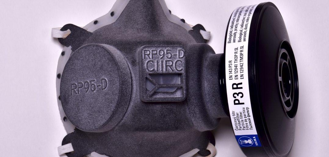 Respirátor vytlačený na 3D tlačiarni