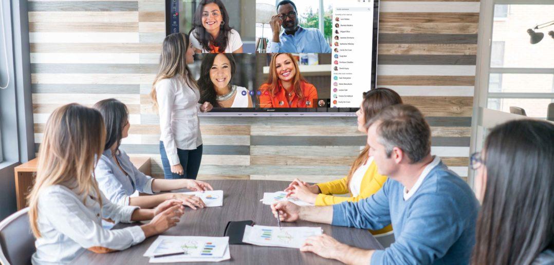 Windows collaboration display od spoločnosti Sharp