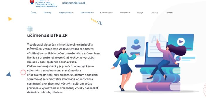 Web učímenadiaľku.sk