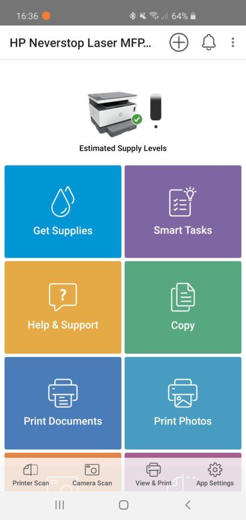 HP Smart aplikácia