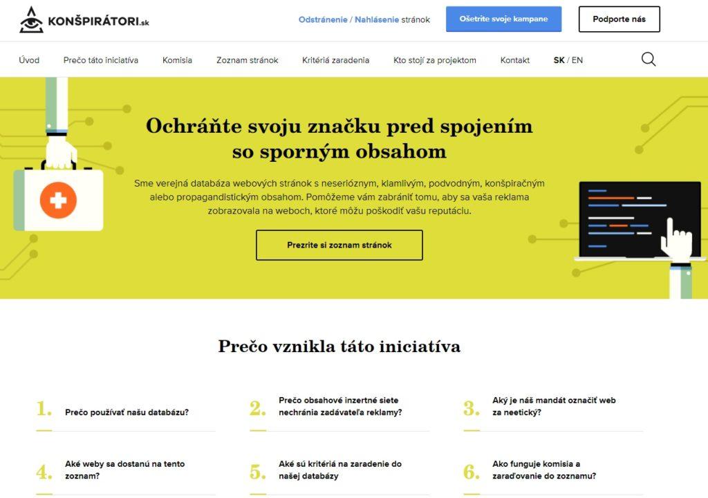 Web Konspiratori.sk