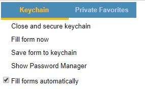 Menu po kliknutí na ikonu doplnku vo webovom prehliadači