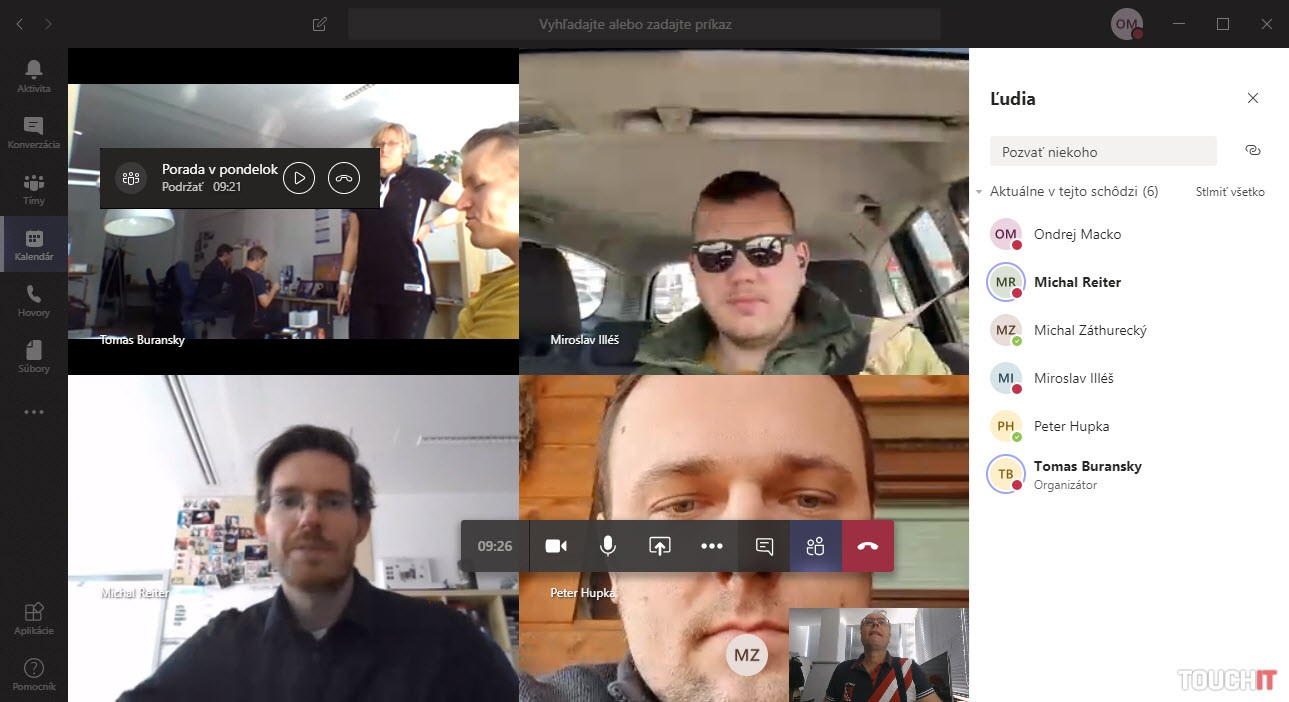 Microsoft Teams pri našej porade na diaľku