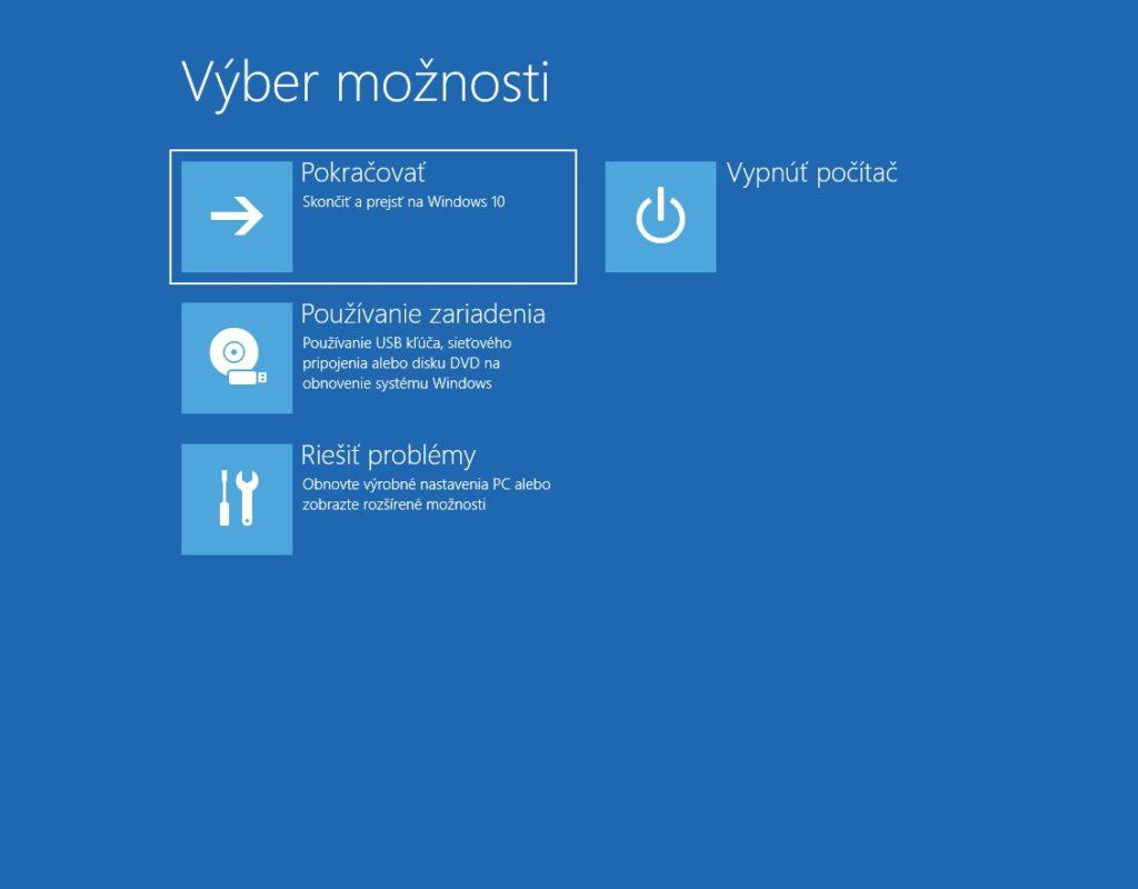 Možnosti opravy Windows 10, ak sa nepodarí systém korektne spustiť