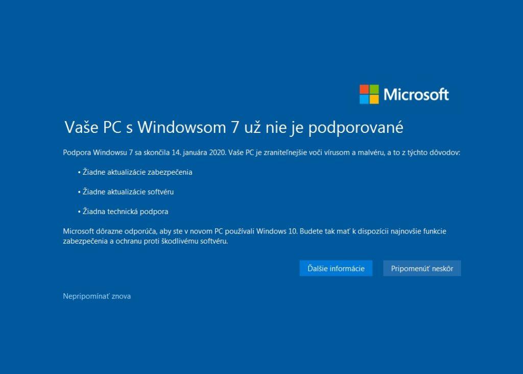 Hlásenie o tom, že Windows 7 má najlepšie dni za sebou