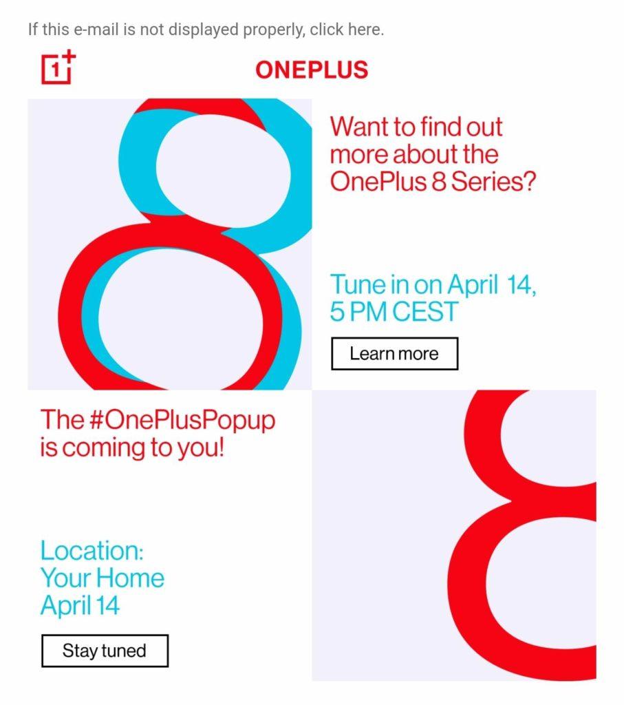 OnePlus 8 event
