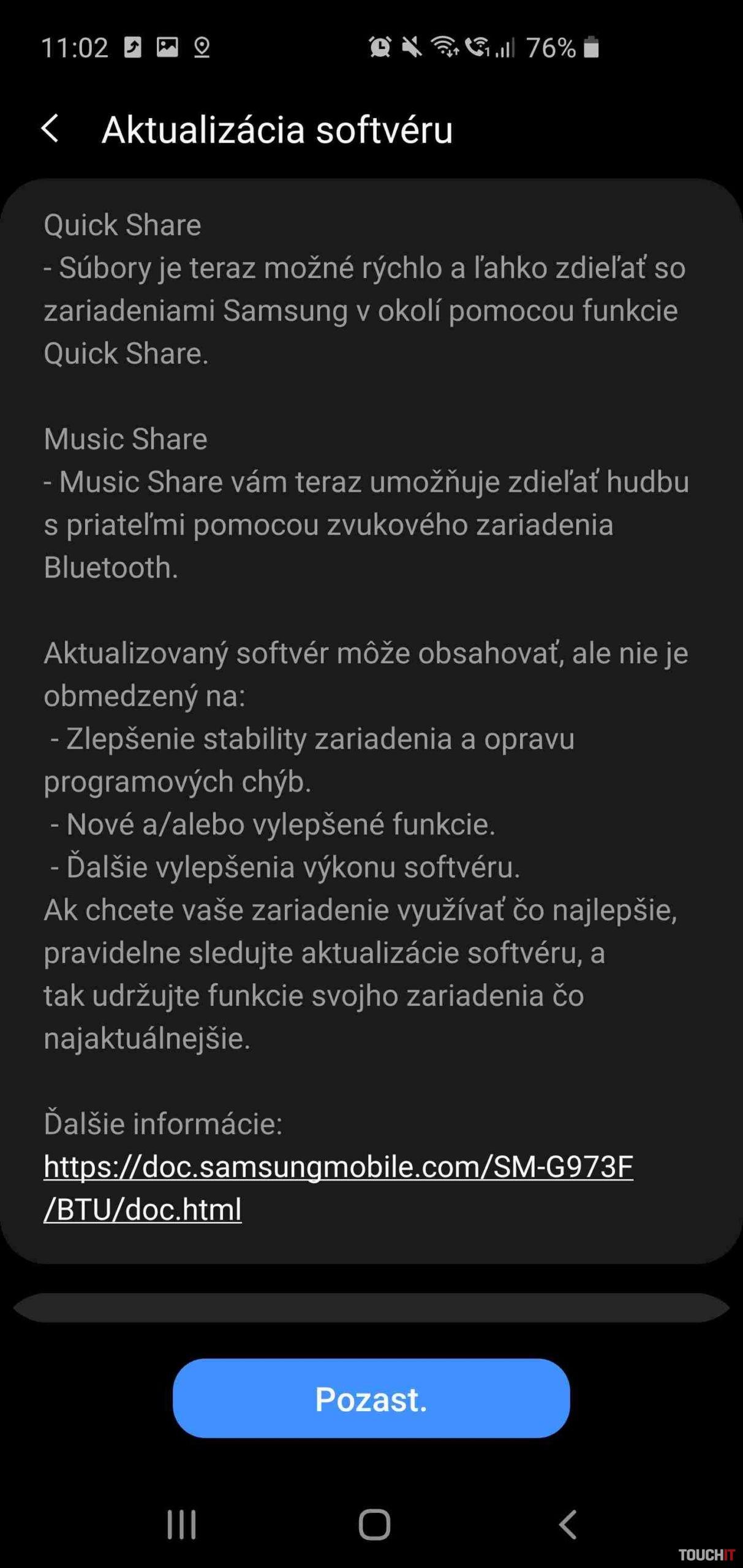 Samsung Galaxy S10 One UI 2.1