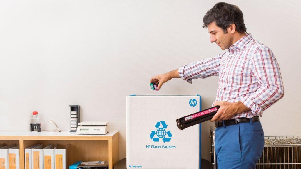 Spoločnosť HP umožňuje bezplatnú recykláciu použitých kaziet prostredníctvom recyklačného programu HP Planet Partners