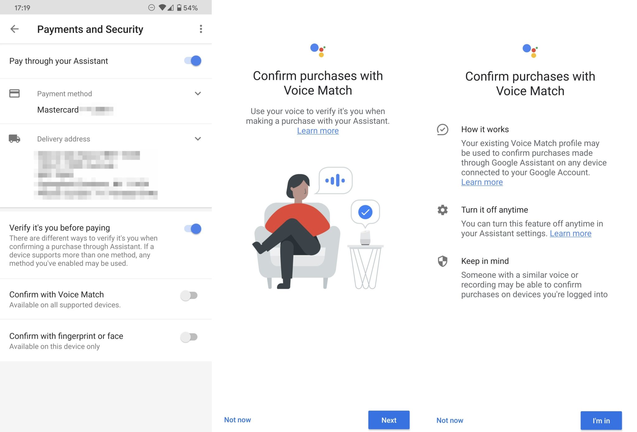 google pay voice