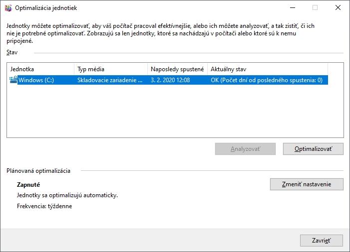 Nástroj na defragmentáciu netreba používať často, pri SSD diskoch nepoužívajte nikdy