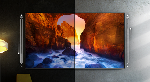 Adaptívny obraz sa mení podľa vonkajšieho osvetlenia