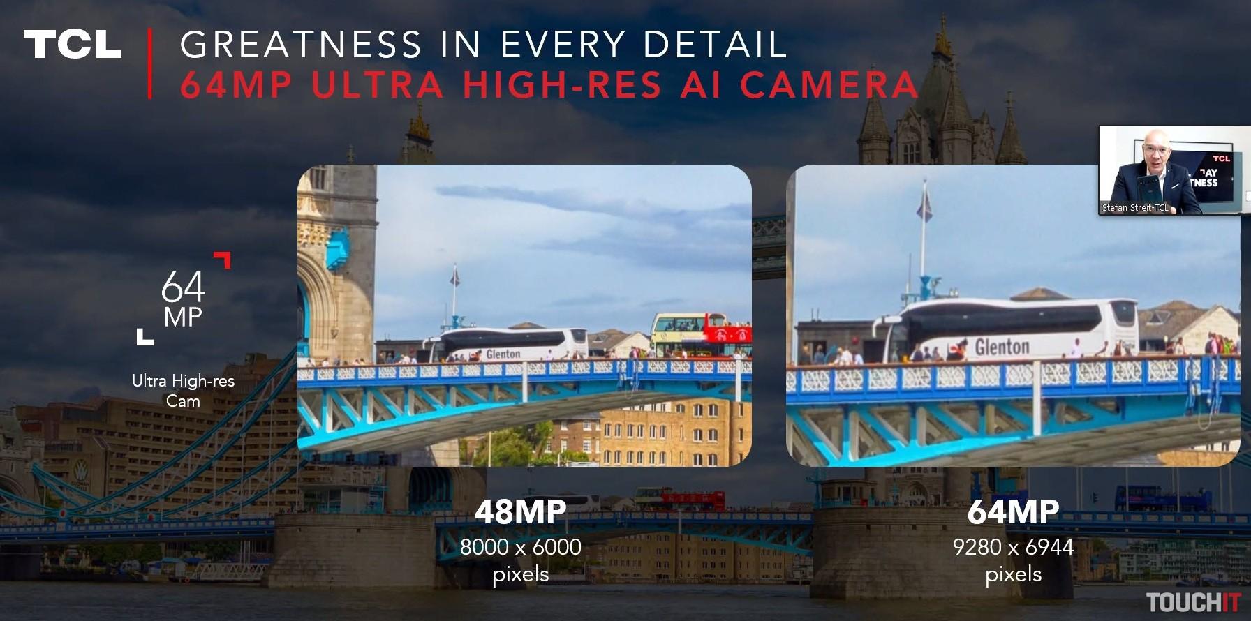 Rozdiel medzi 64 a 48 MPx hlavným fotoaparátom v prípade TCL 10 Pro a a TCL 10L