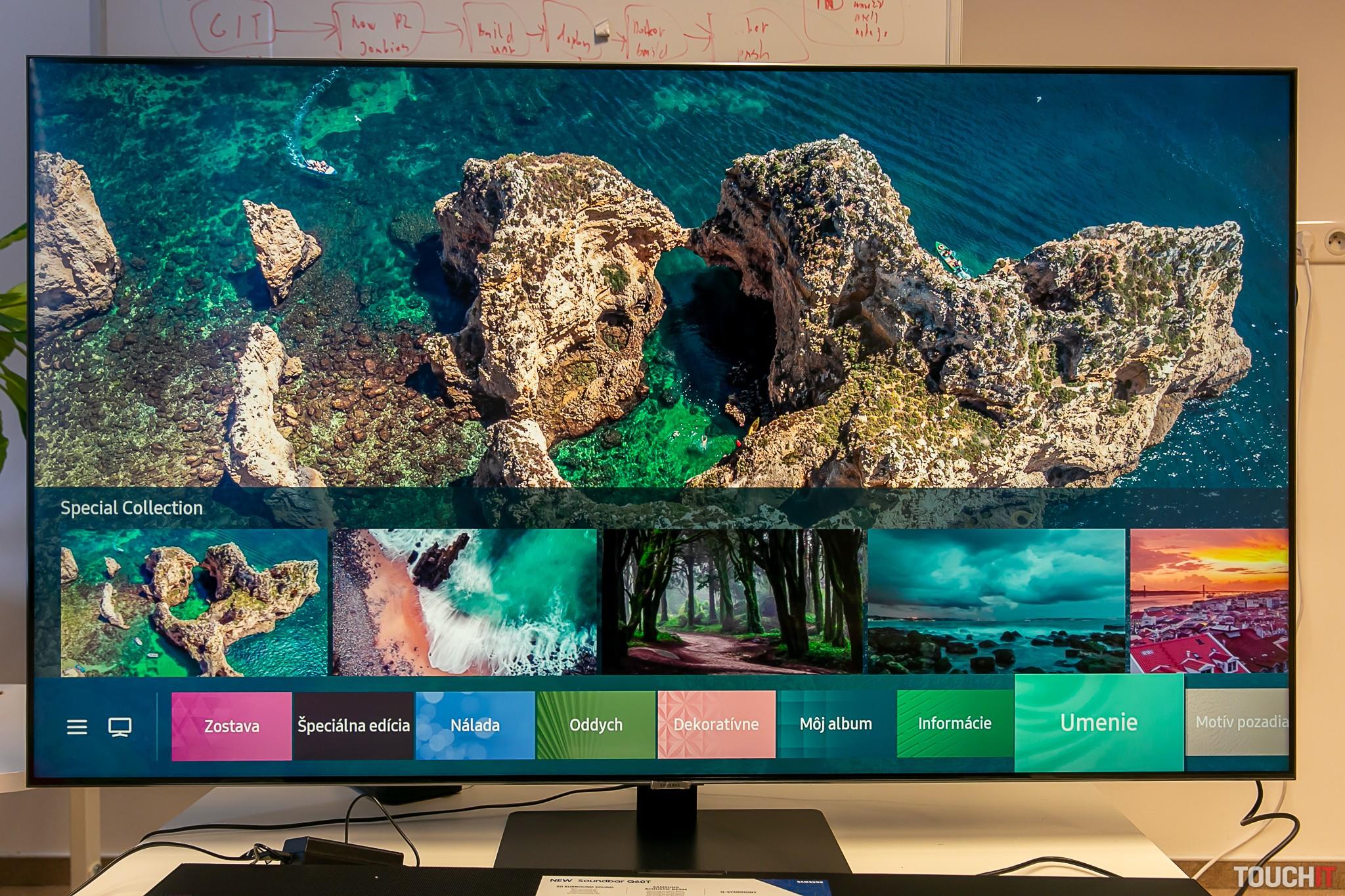 Výber pozadí pre Ambient+ na Samsung Q80T