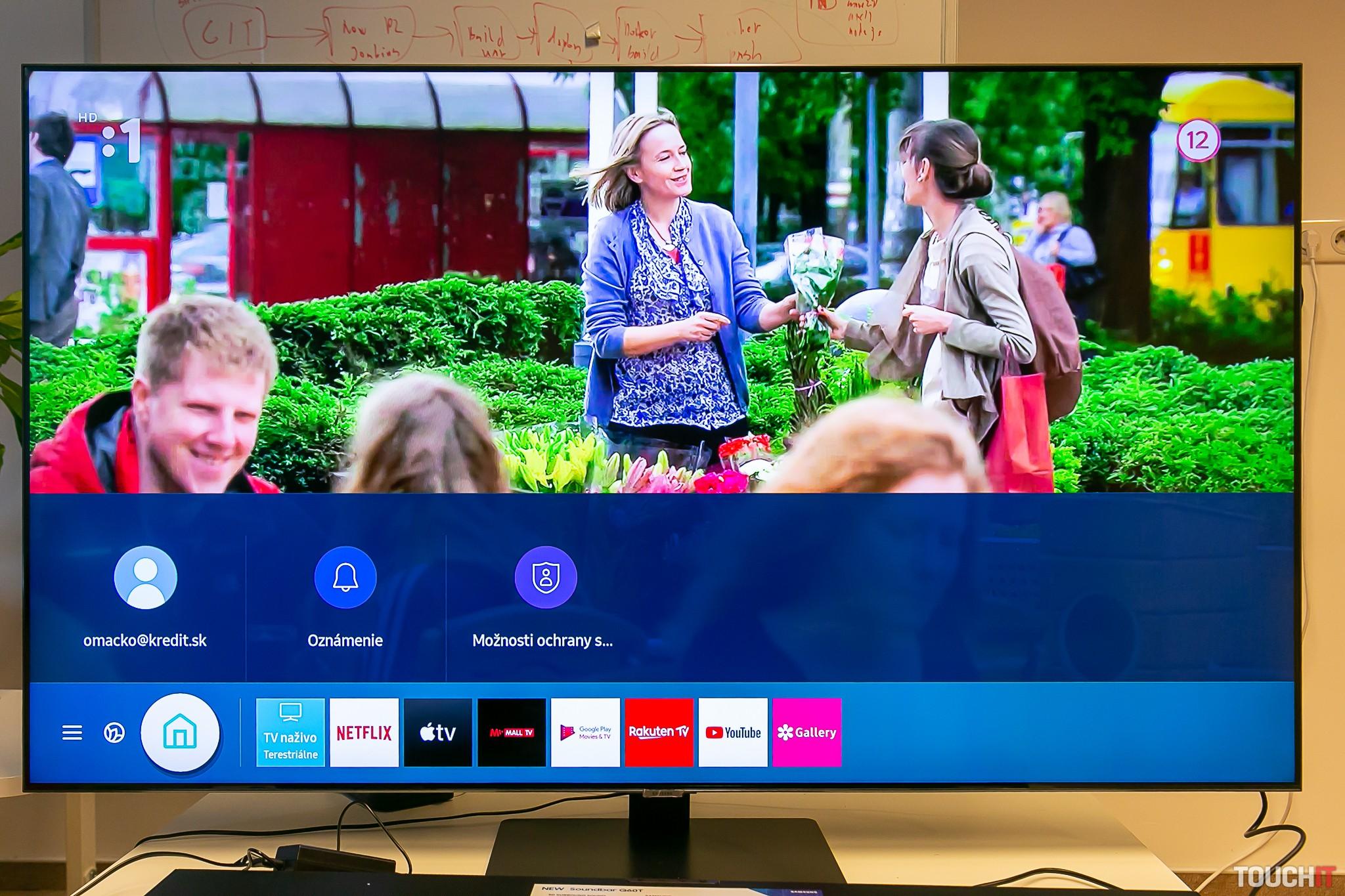 Samsung Q80T s vysokou kvalitou obrazu aj pri vysielaní slovenských televízií