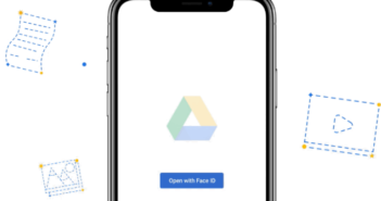 Google Disk iOS Face Touch ID