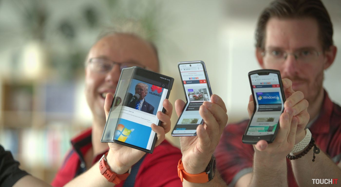 Huawei Mate Xs, Samsung Galaxy Z Flip a Motorola Razr