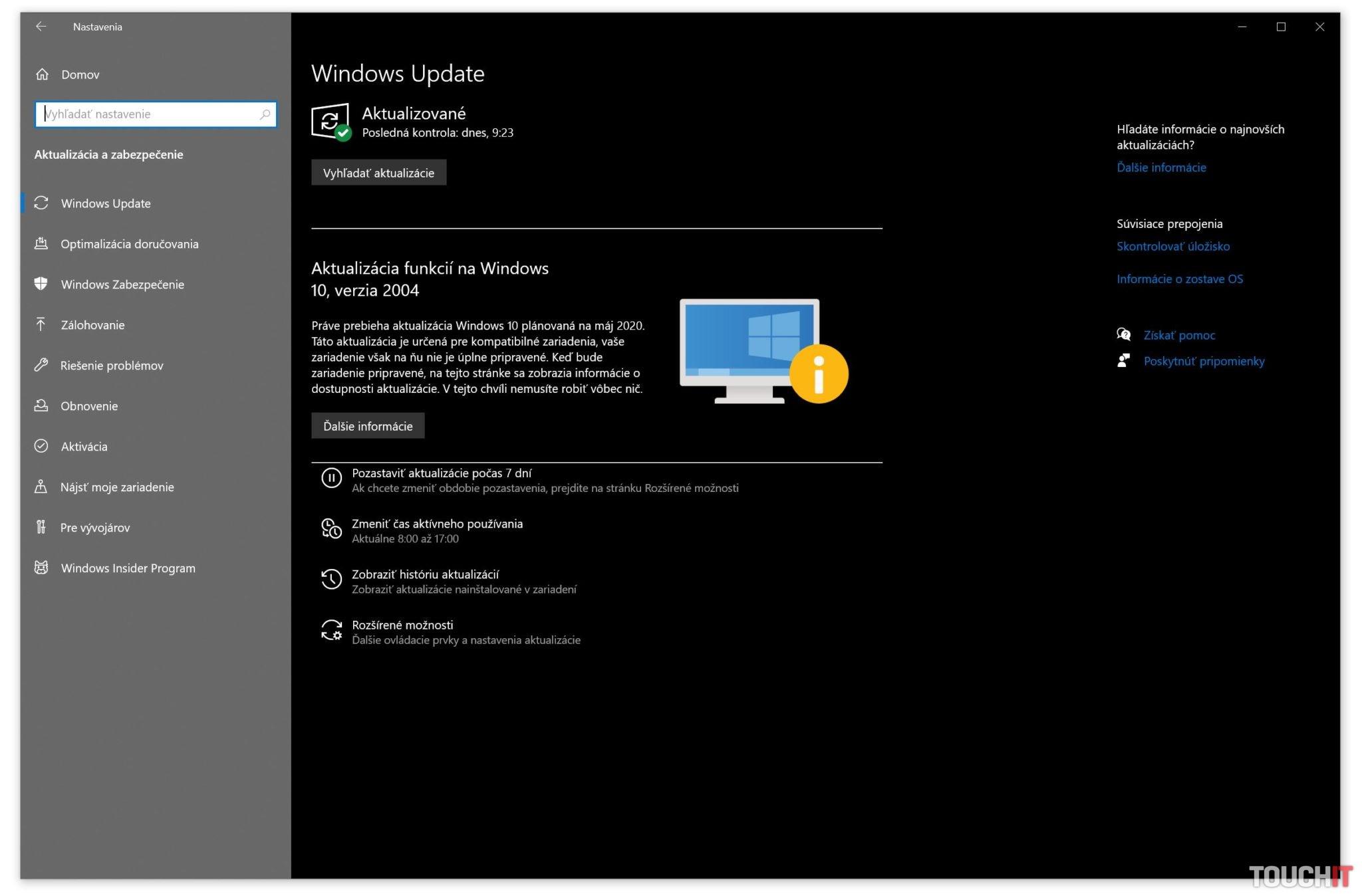 Windows 10 májová aktualizácia 2020