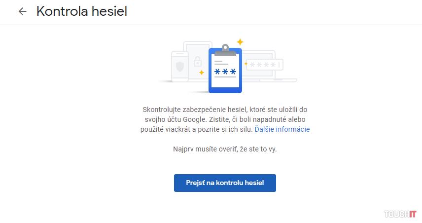 Google Správca hesiel