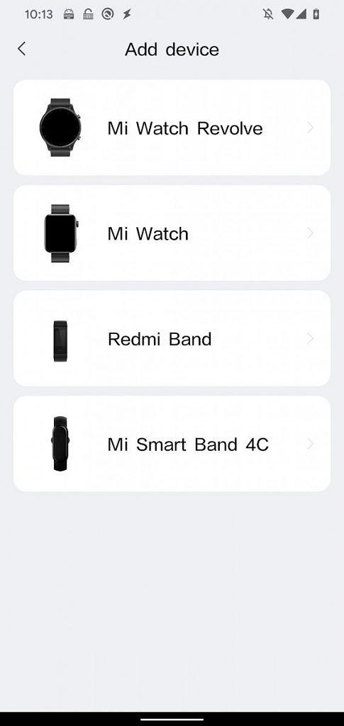 Aplikácia Xiaomi Mi Watch