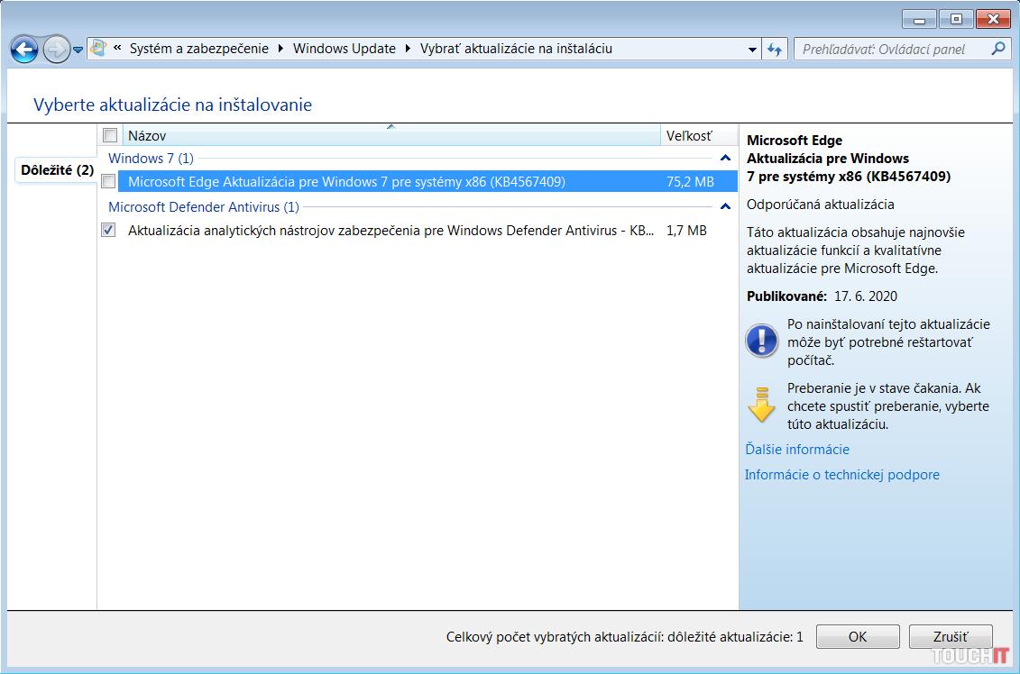 windows 7 edge update