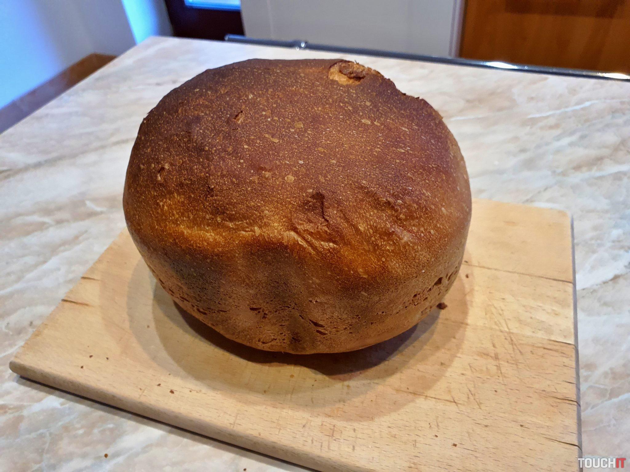 Hotový chlebík hneď po príprave