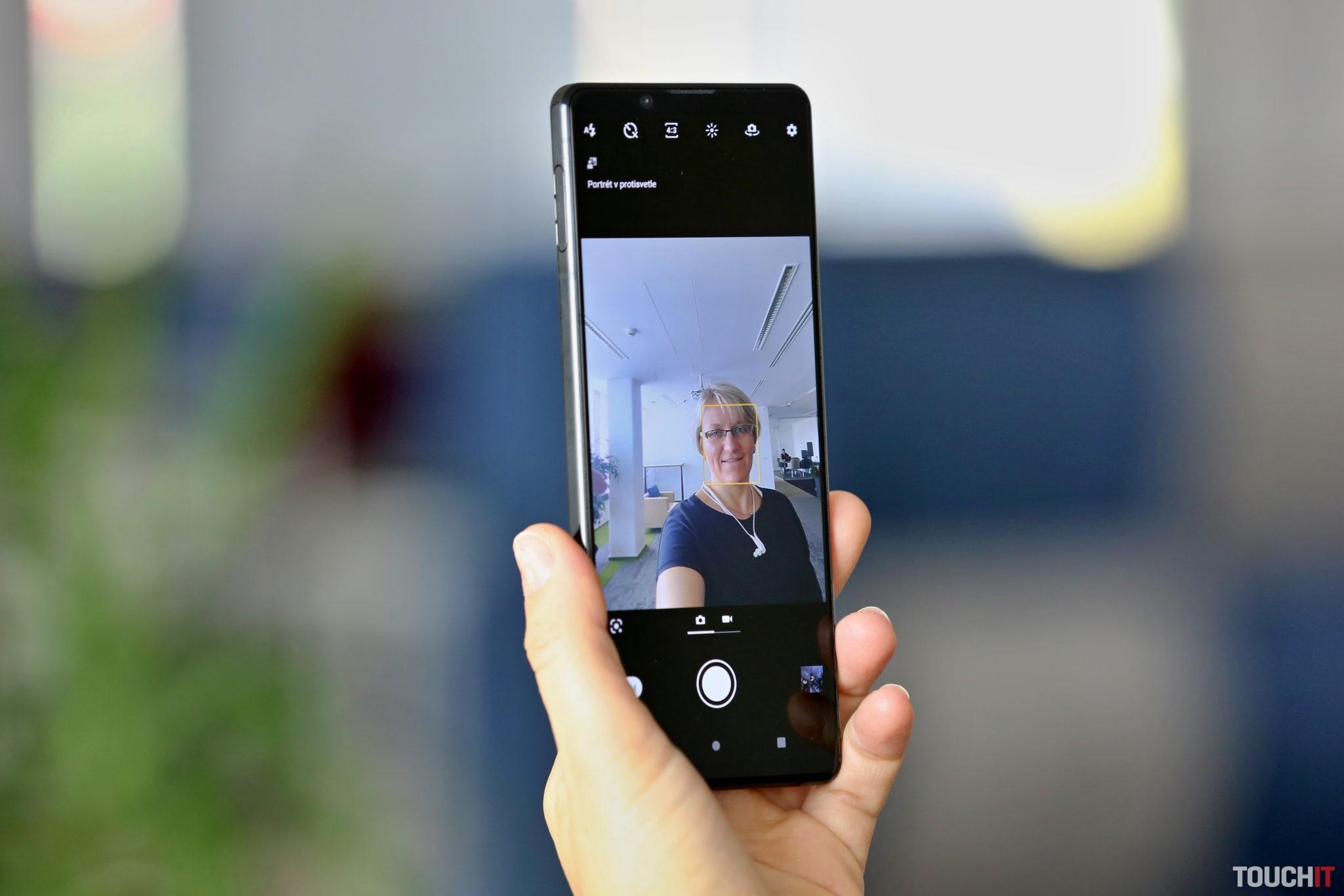 Selfie kamera na Xperia 1 Mark II