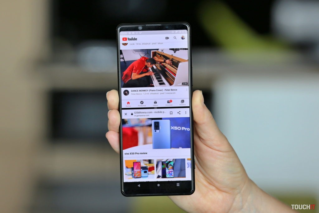 Sony Xperia 1 Mark II a rozdelenie displeja na dve aplikácie