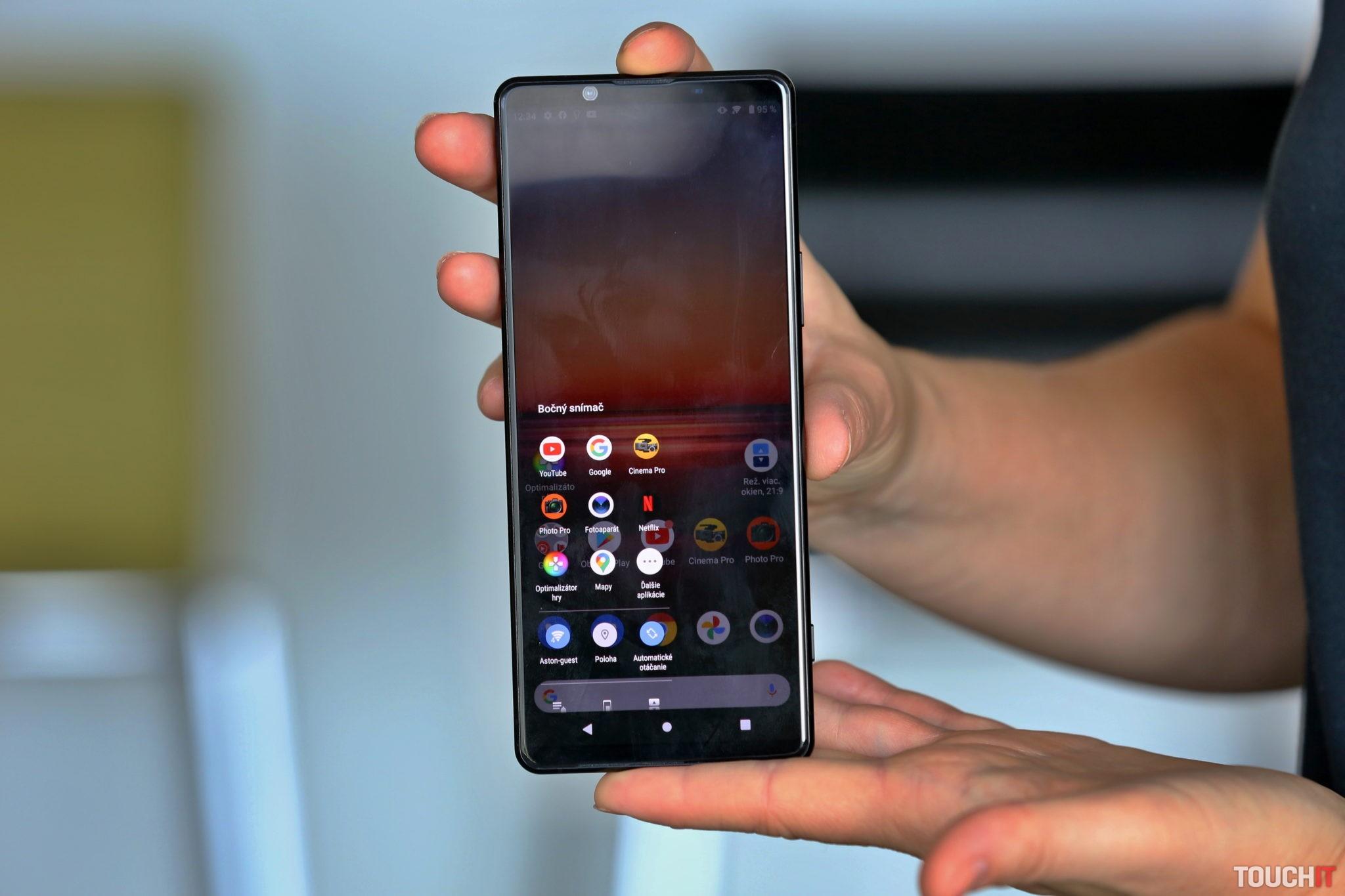 Sony Xperia 1 Mark II a možnosti ovládania jednou rukou