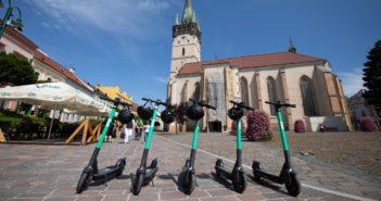 Bolt kolobežky v Prešove
