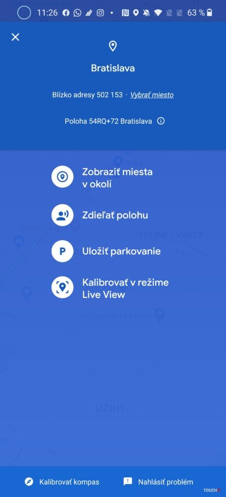 Mapy Google Live View AR