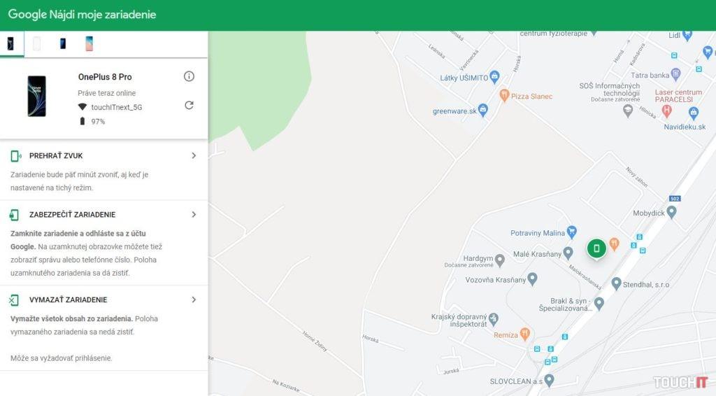 Google Nájdi moje zariadenie