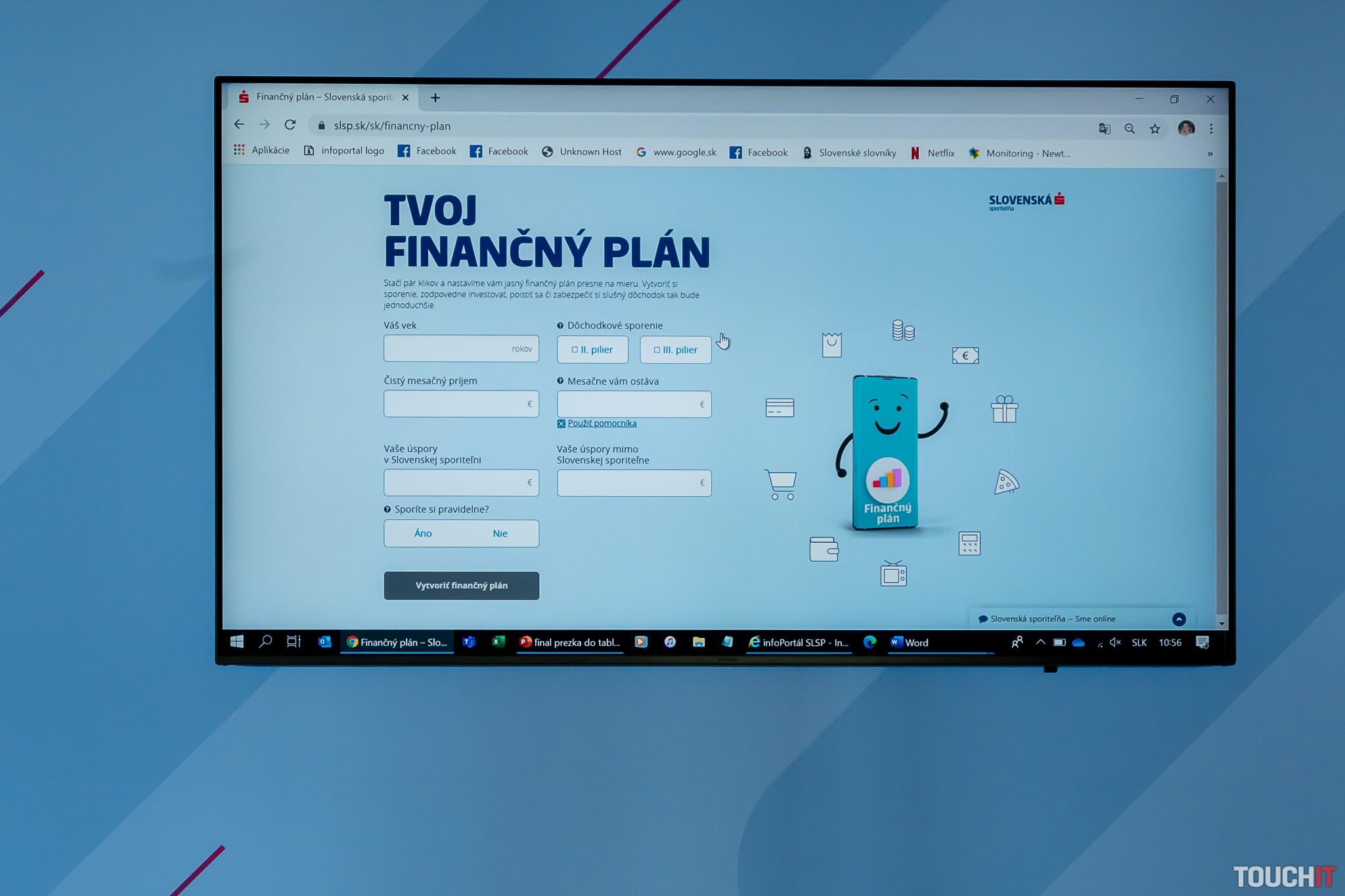 Finančný plán od Slovenskej sporiteľni