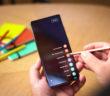 Galaxy Note20 Ultra a písanie poznámok dotykovým perom