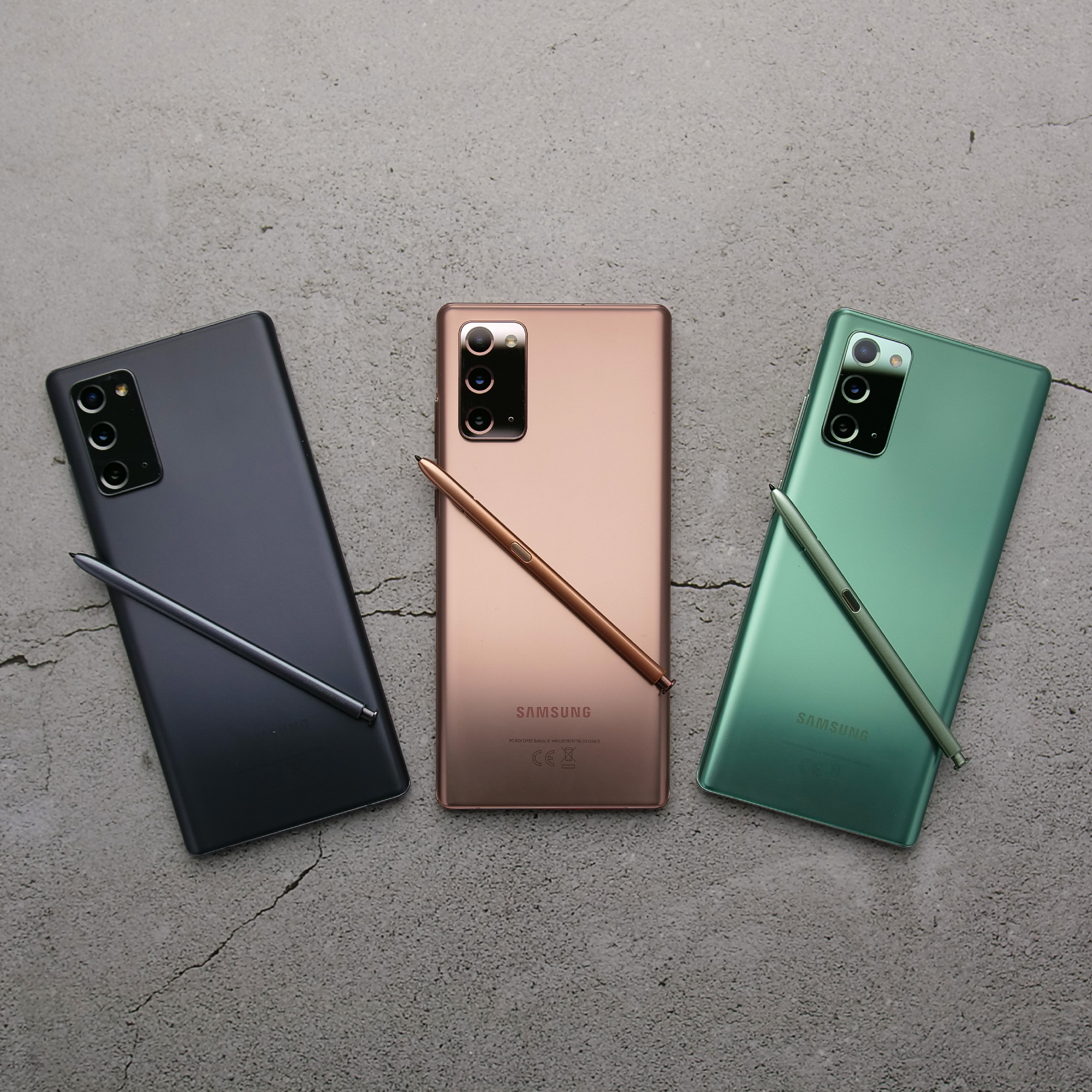 Všetky farebné verzie Galaxy Note20 na slovenskom trhu
