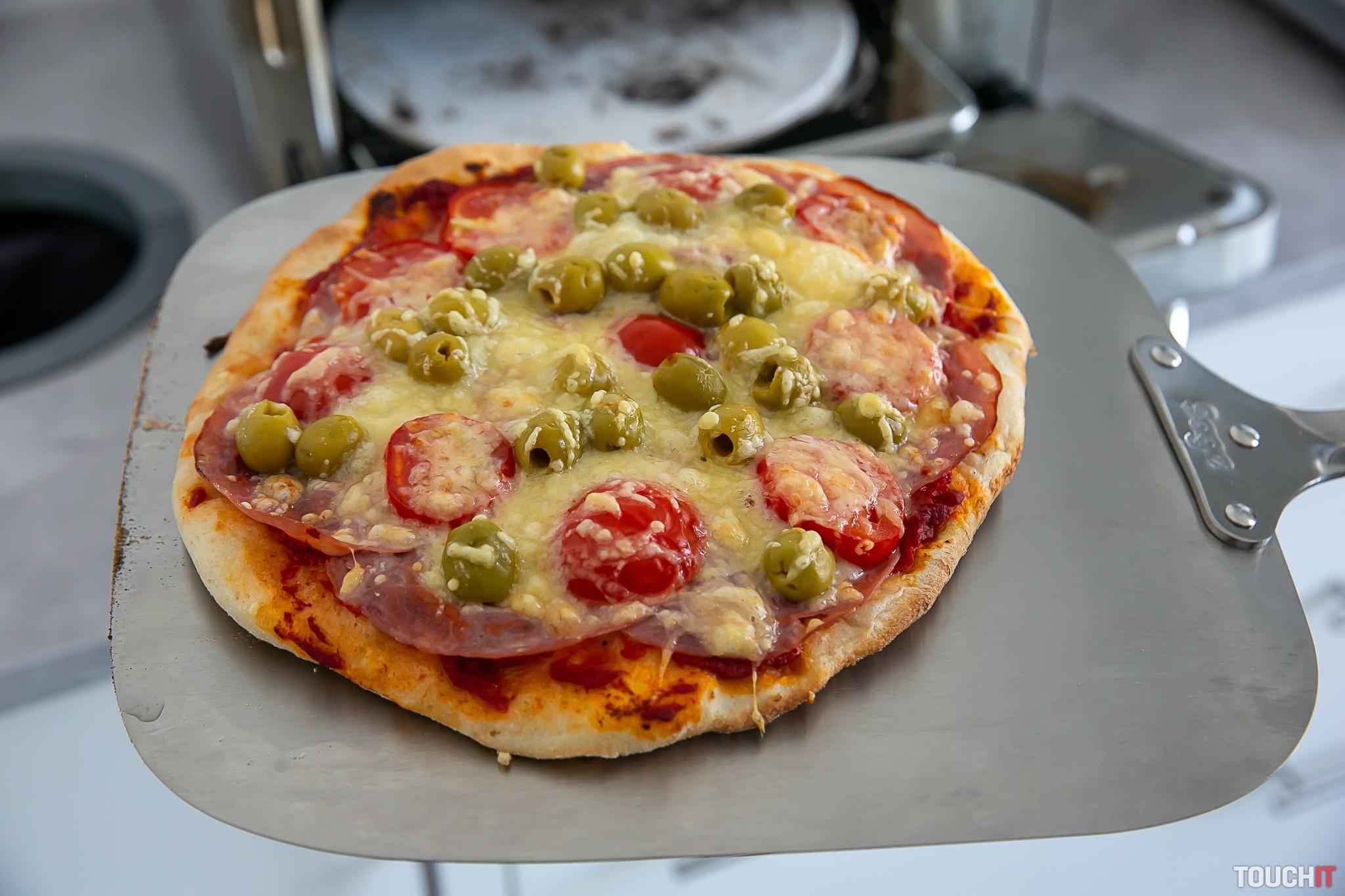 Hotová pizza bola naozaj chutná