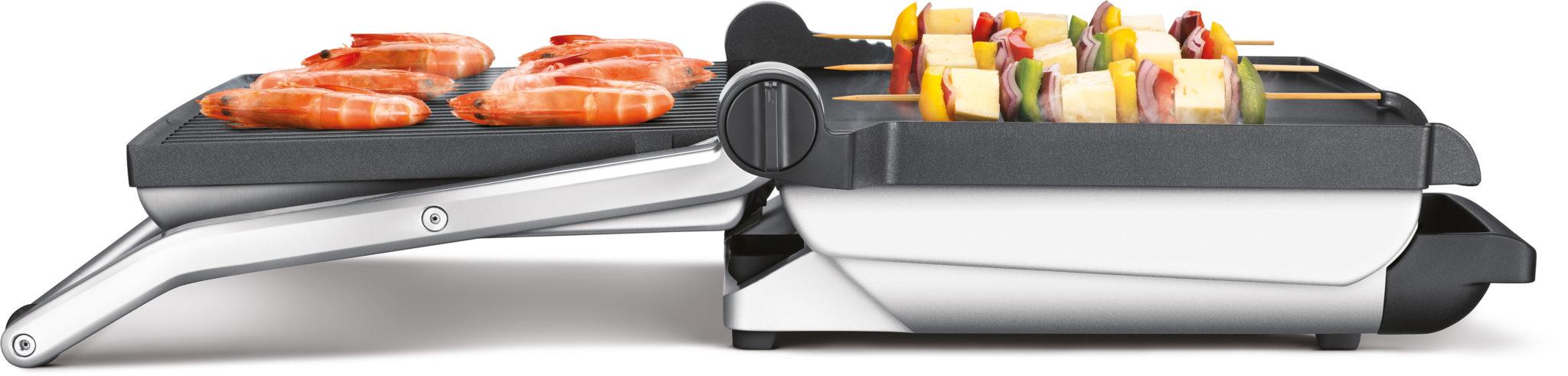 Gril Sage 800GR & BBQ Gril 2v1 má aj vyberateľnú misku na odkvapkaný tuk
