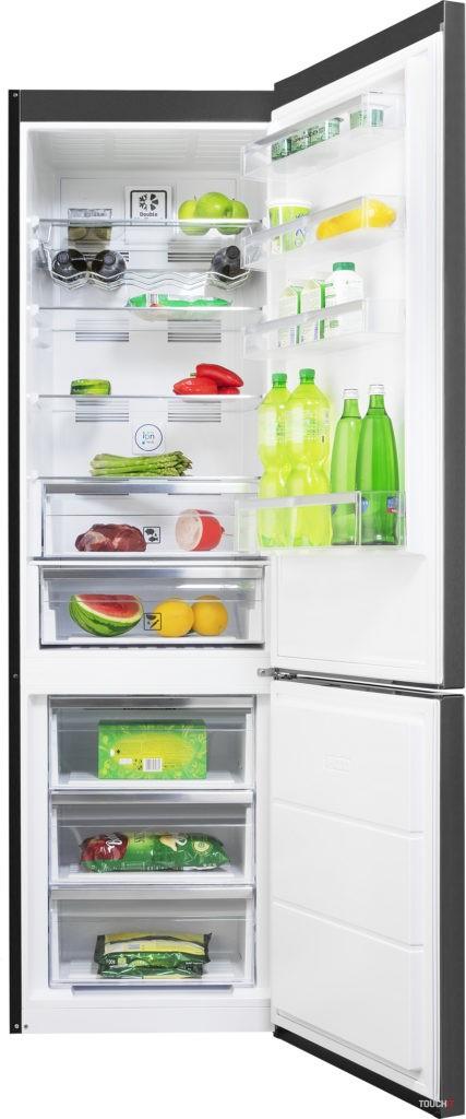 Kombinovaná chladnička PHILCO PCD 3602 NFDX má možnosť voľby otvárania dverí
