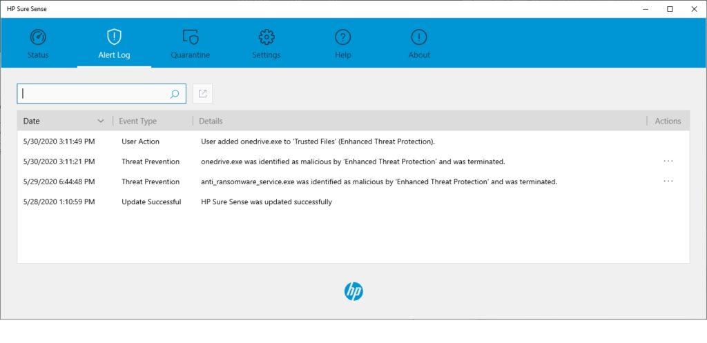 HP Sure Sense nám blokoval aj známe procesy