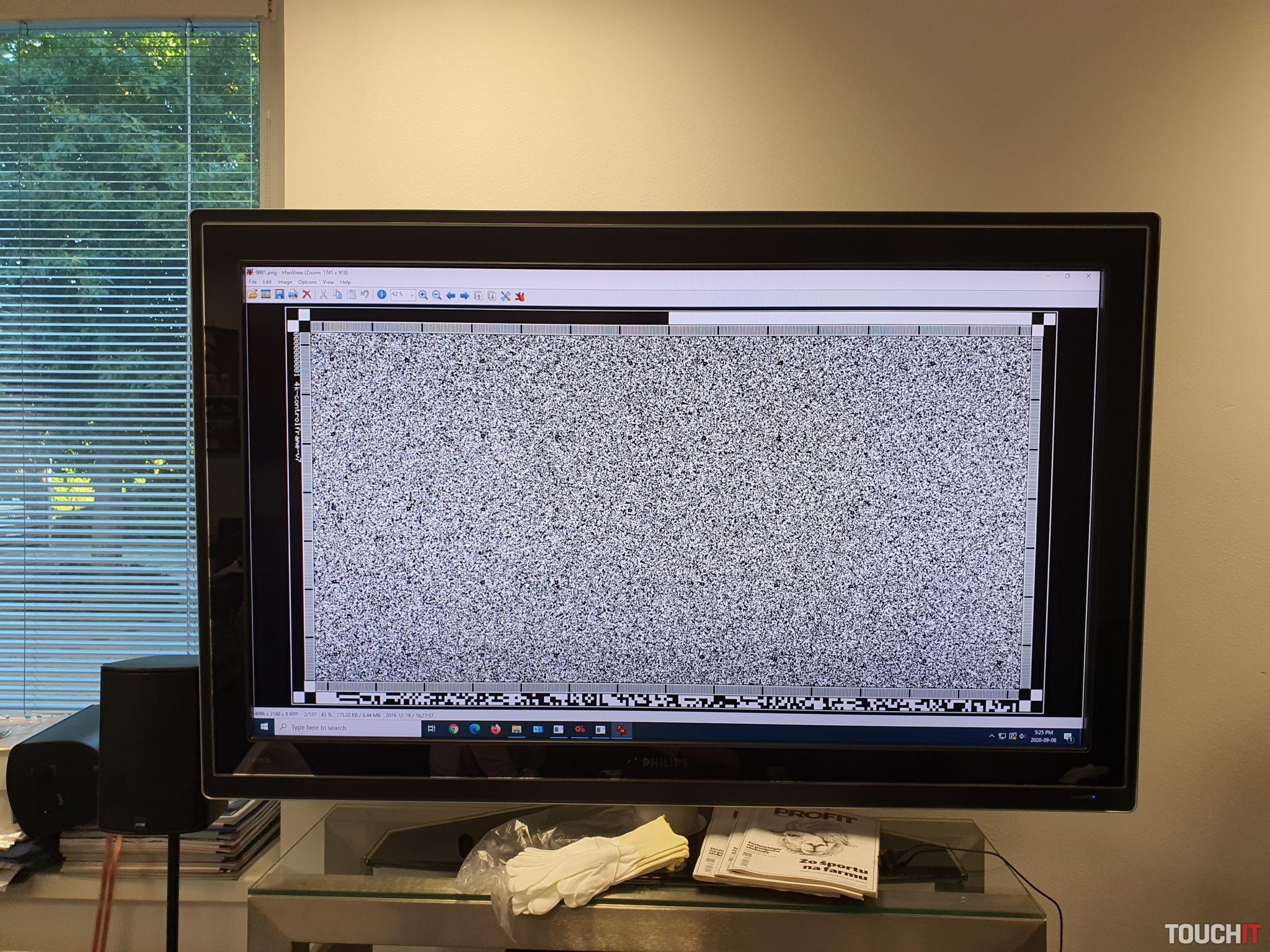 Spôsob ako sa zobrazia dáta pri zosnímaní kinofilmu
