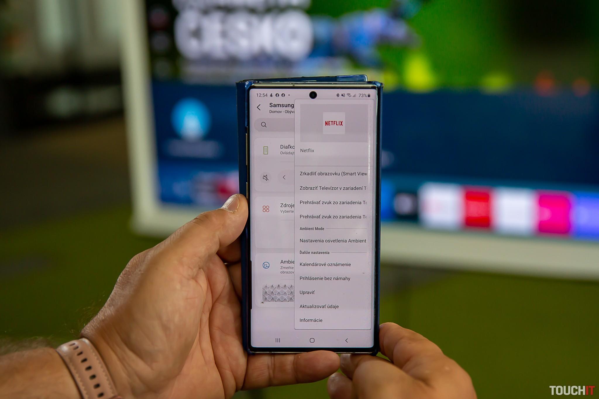 Systém menu v aplikácii SmartThings