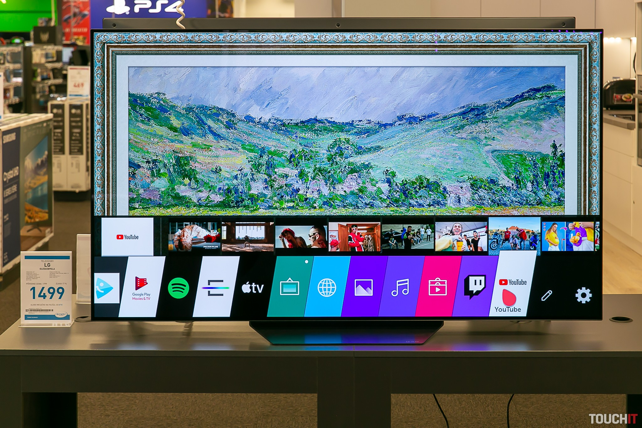 Galéria obrazov na LG televízore