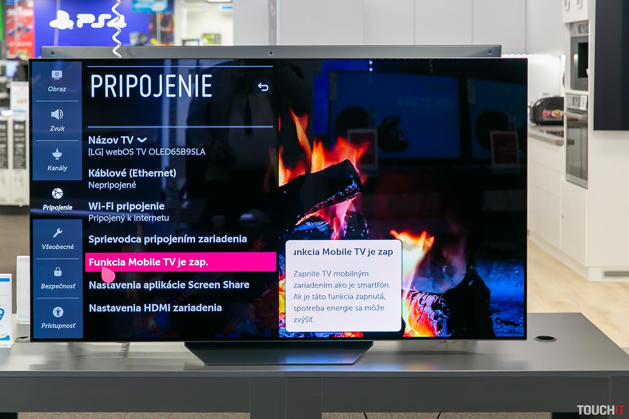 Prepojenie smartfónu s LG televízorom