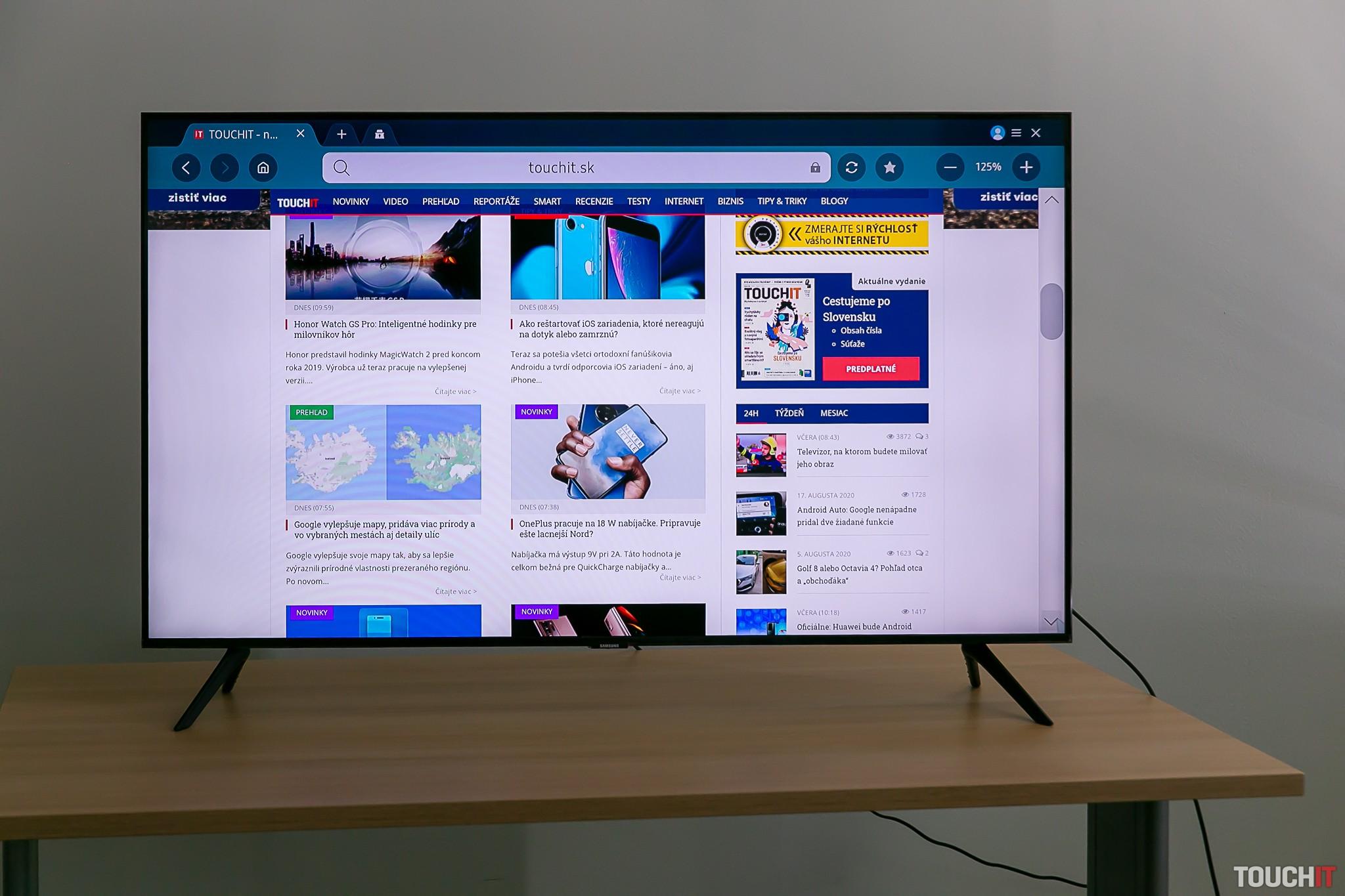 Webová stránka TOUCHIT.sk na Samsung TV