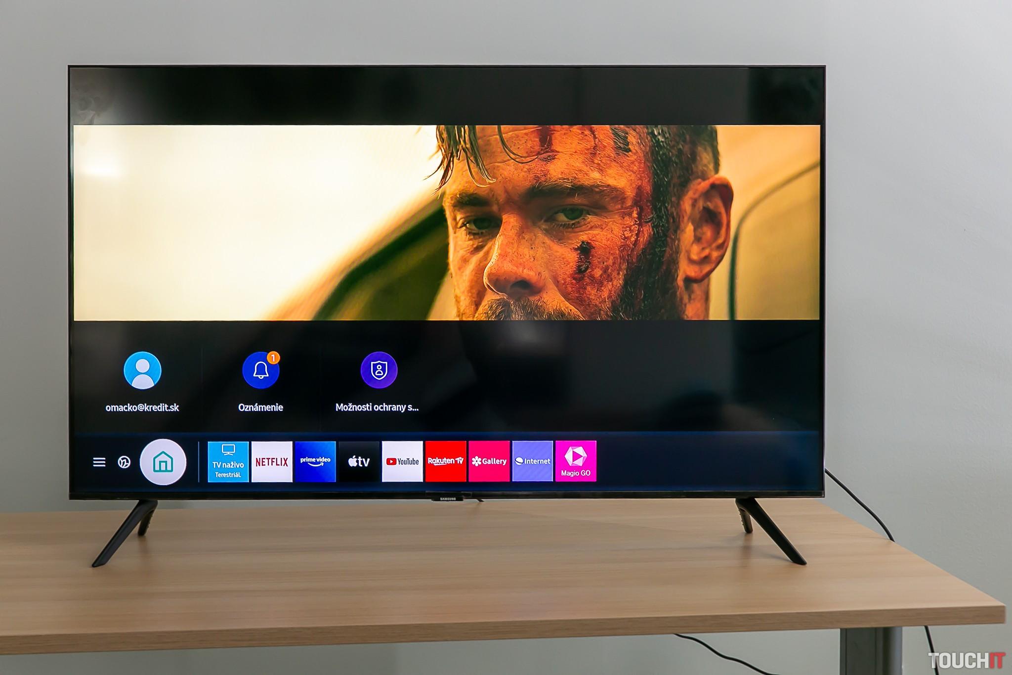 Sledovanie Netflixu a oznámenia na TV