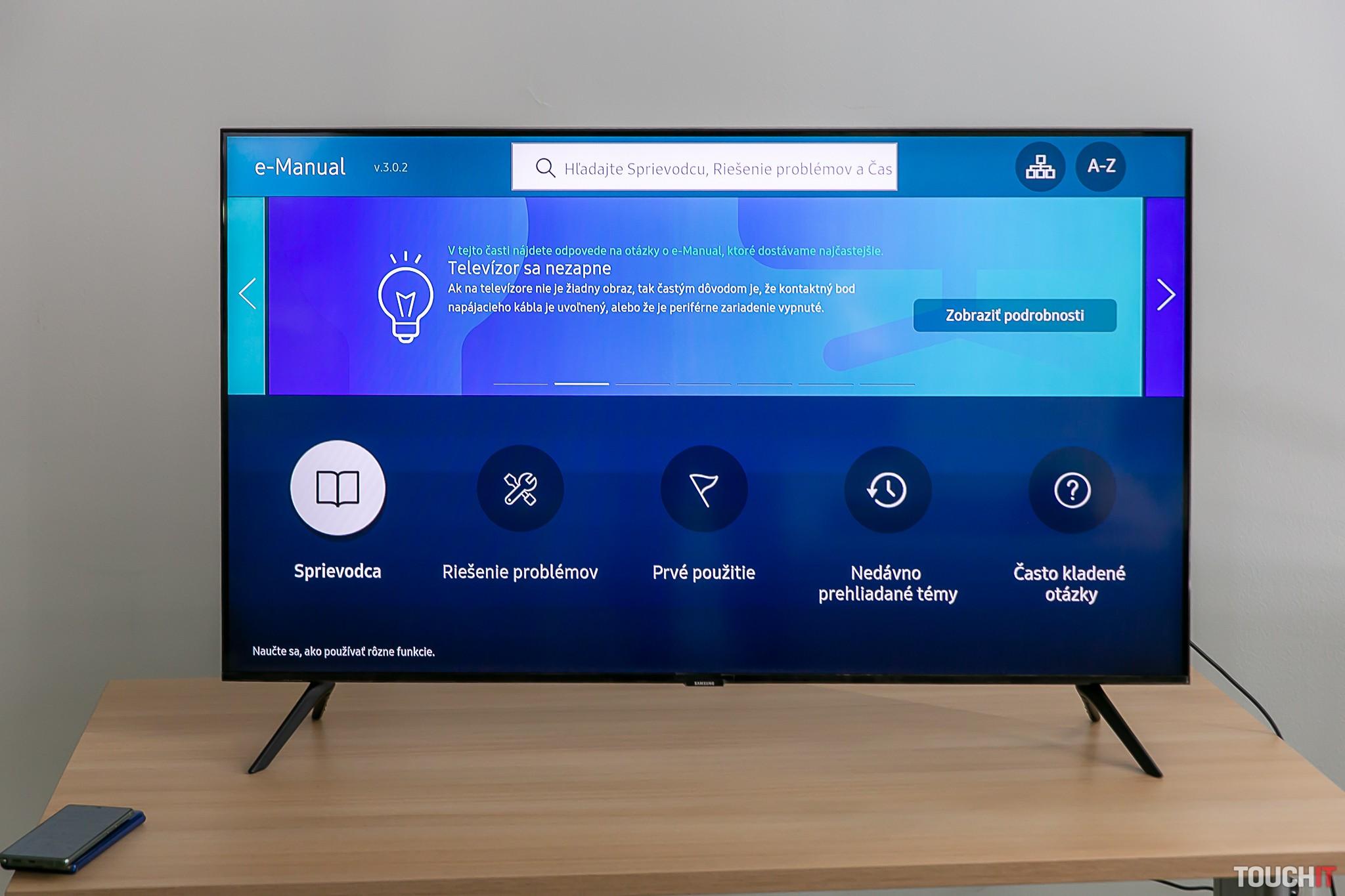 e-manuál na Samsung SmartTV
