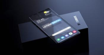 Samusng patent priehľadný smartfón